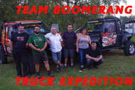 Team boomerang truck expedition